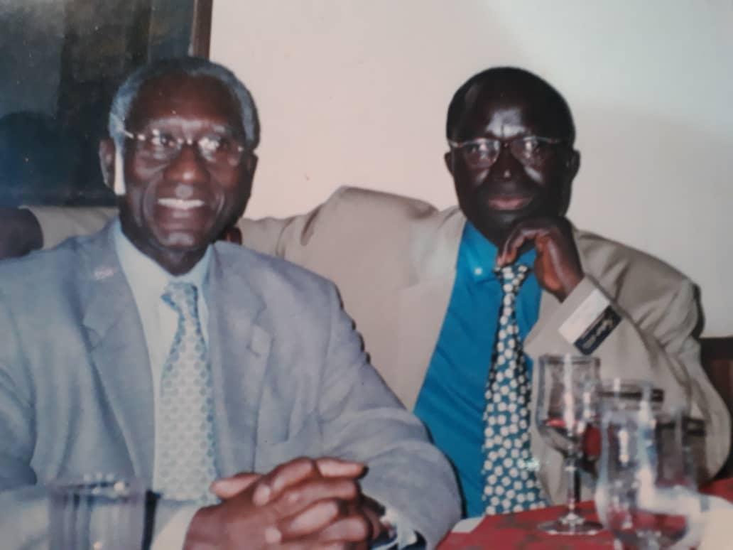 Le Général Lamine Cissé en compagnie de Babacar Justin Ndiaye à Bangui (Centrafrique) en mai 2003