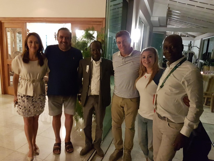 RIO 2016 : Diagna N'diaye pose avec ses amis