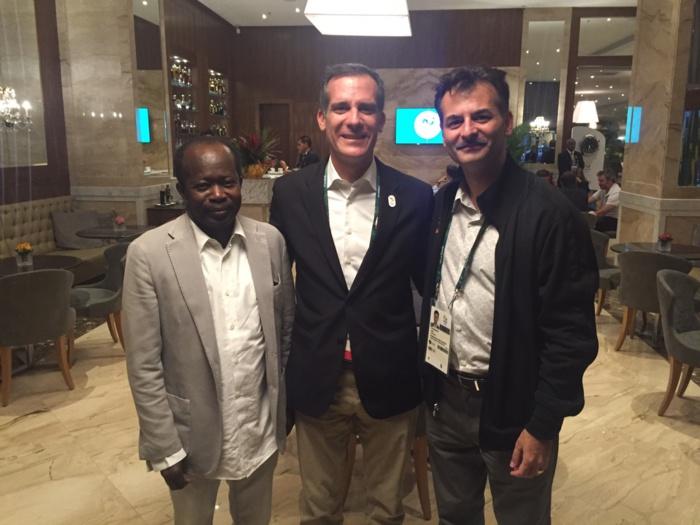 RIO : Le Président du CNOSS trace des axes de coopération dans le sport avec les maires de Paris et Los Angeles