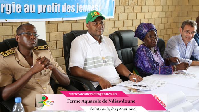 Etape Saint-Louis  Inauguration d'une ferme pour l'emploi des jeunes