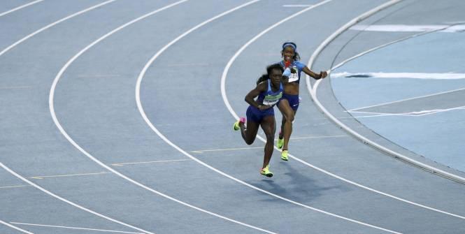 Les relayeuses américaines requalifiées en finale du 4x100m