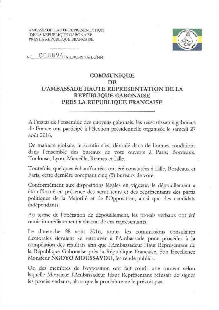 ELECTION AU GABON : L'ambassadeur Moussavou s'en prend à l'avocat Robert Bourgi
