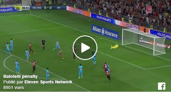 Balotelli déjà buteur avec Nice contre l'OM