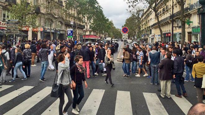 Fin d'une vaste opération policière dans le centre de Paris