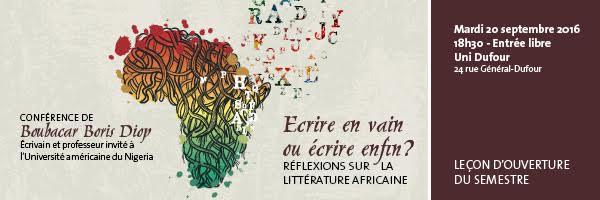 Genève s'accapare des intellectuels Sénégalais : Boris Diop à l'Université, Ibrahima Thioub à l'Institut !