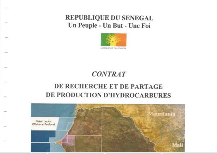 DOCUMENT : Contrat de Recherche et de partage de production d'hydrocarbures St Louis OFFSHORE PROFOND