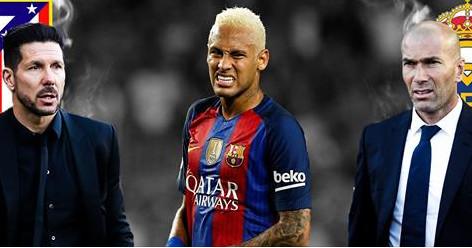 Simeone et Zidane volent au secours de Neymar