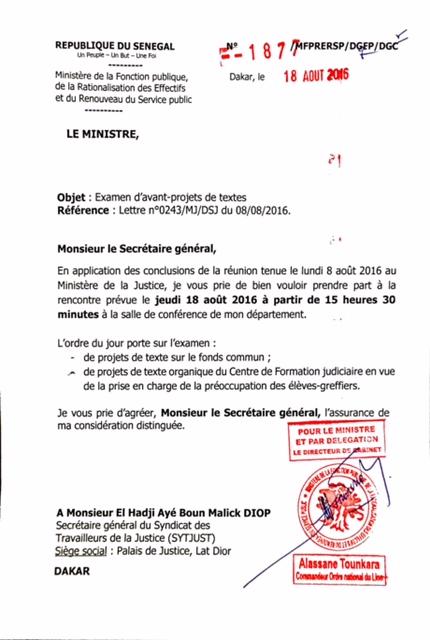 Après une journée de grève : Le Sytjust dresse son bilan et attaque encore le ministre de la Fonction publique