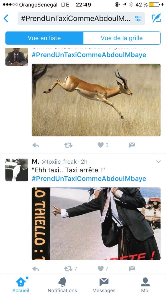 #PrendUnTaxiCommeAbdoulMbaye : Le hashtag qui secoue la toile