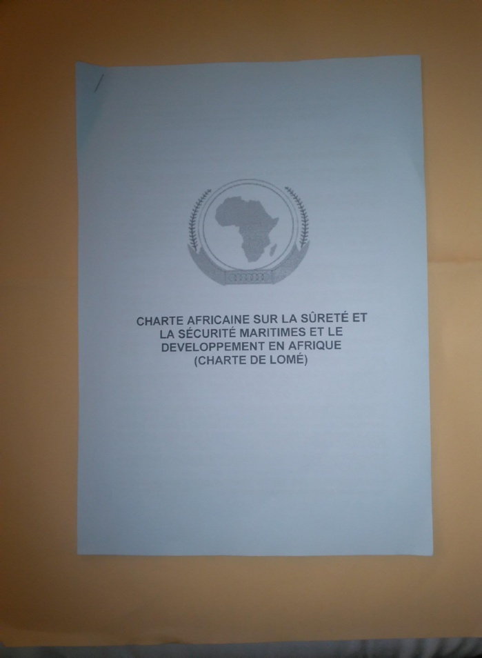 La charte de Lomé, adoptée le 16 octobre.