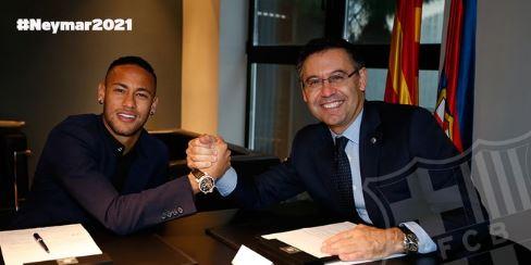 Neymar prolonge jusqu'en 2021 avec Barcelone