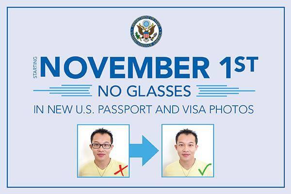 A partir du 1er novembre, les lunettes ne seront plus autorisées sur les photos de demande de visa pour les USA