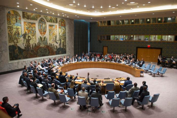 Ce jour, le Sénégal dirige le Conseil de Sécurité de l'Organisation des Nations Unies