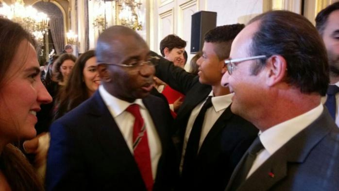 Moustapha Guirassy dans un panel au Quay d'Orsay avec le Président  F. Hollande