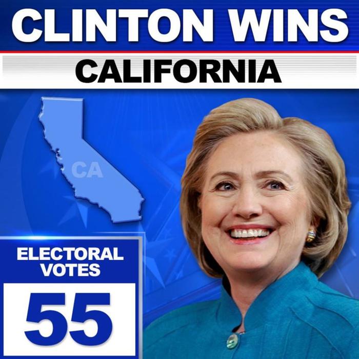 Hillary Clinton gagne en Californie