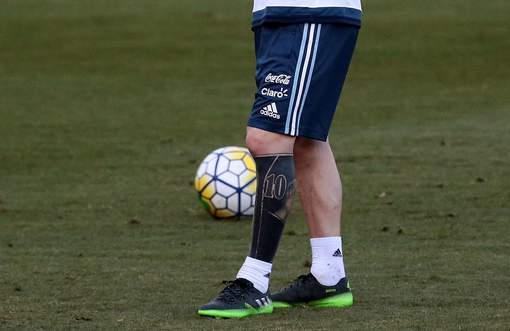 Le nouveau tatouage de Messi n'est pas passé inaperçu
