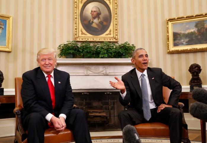 La rencontre entre Obama et Trump (Photos)
