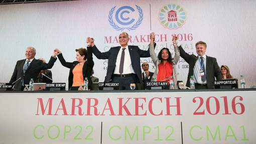 Une COP22 bouclée, mais bousculée par Trump