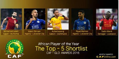 Meilleur joueur africain de l'année 2016 : Sadio Mané parmi les 5 finalistes pour le titre