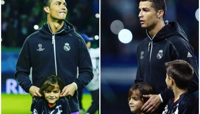 Le petit garçon avec Ronaldo n'est pas n'importe qui…