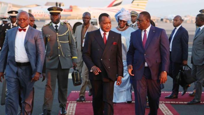 SOUTIEN À ABDOULAYE BATHILY : Le président Macky Sall fait escale à Brazzaville et rencontre Sassou