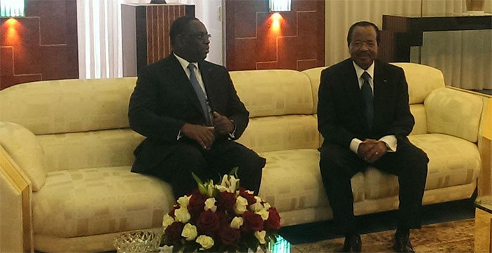 Le président Sall en tête-à-tête avec Paul Biya