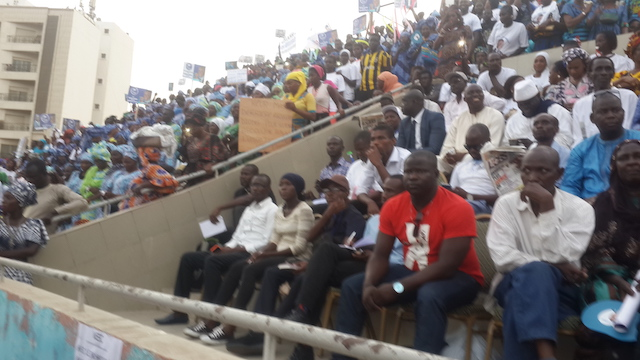 Les premières images du Grand Meeting d'Abdoulaye Baldé de l'Union des Centristes du Sénégal (UCS) au Stade Iba Mar Diop