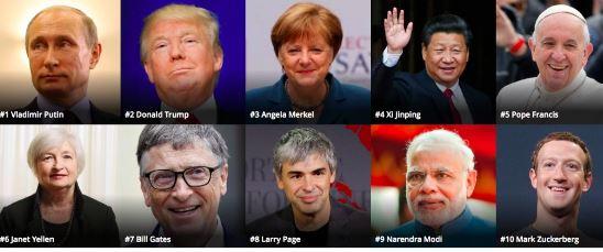 Poutine, l'homme le plus puissant du monde selon Forbes