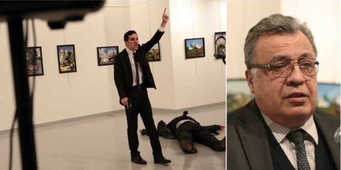 Turquie : les violentes images de l'ambassadeur russe tué par balles à Ankara