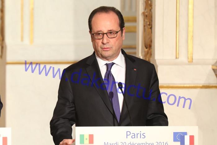 VISITE OFFICIELLE À PARIS - FRANÇOIS HOLLANDE PRÉCISE : «  La France n'est pas moins généreuse, elle est plus ingénieuse »