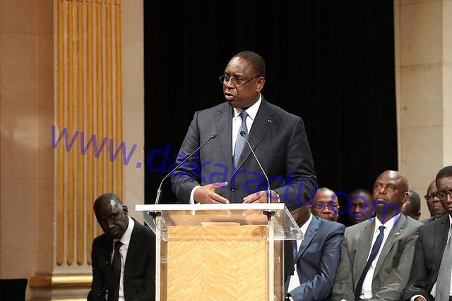 PARIS : Macky Sall vante les diversités sénégalaises