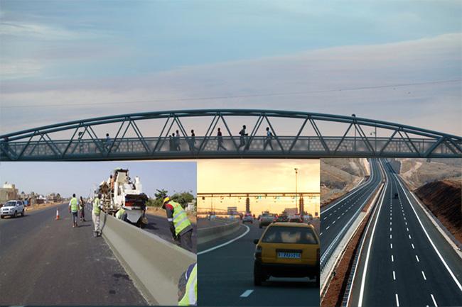 INFRASTRUCTURES : 1295 km de route, 36 km d'autoroute et 12 ponts construits entre 2012 et 2016 (officiel)