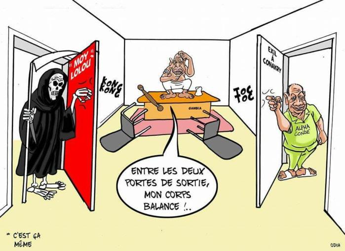 Jammeh doit choisir entre Toc toc et Kong kong......(par Odia)