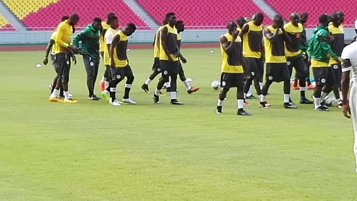 Séance d'entrainement des Lions a Kintele, Brazzaville