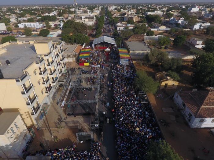 Forte mobilisation de Mamour Diallo : Le meeting vu par un drône