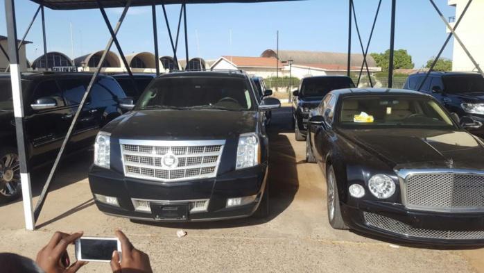 Voici les voitures que Jammeh a emportées dans son avion cargo