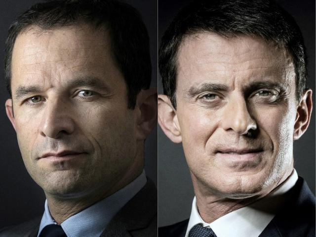 Primaire PS : Hamon et Valls qualifiés pour le second tour