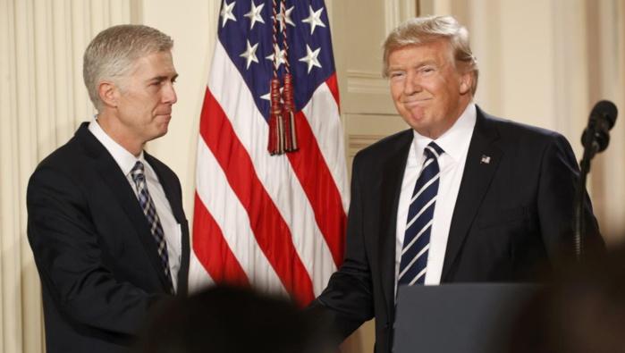 ETATS-UNIS : Donald Trump nomme le juge conservateur Neil Gorsuch à la Cour suprême