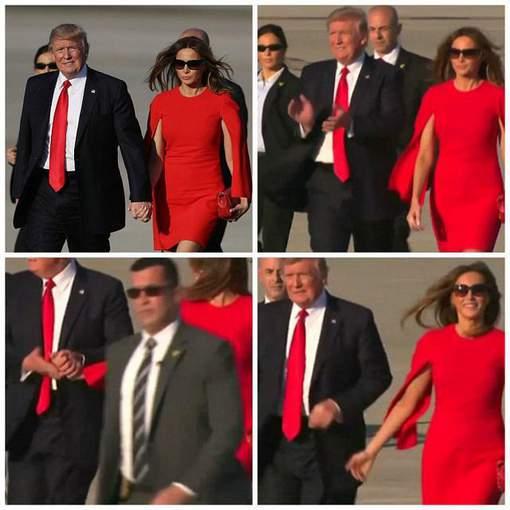 Pourquoi Donald Trump fait tout pour éviter de tenir la main de Melania