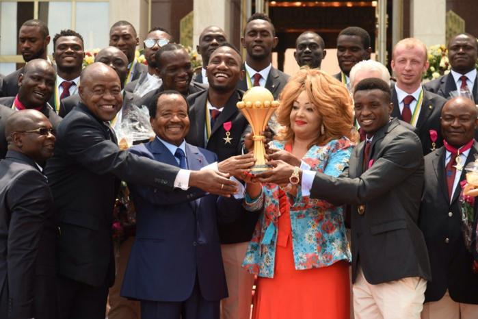 Cameroun : les Lions indomptables reçus au palais présidentiel