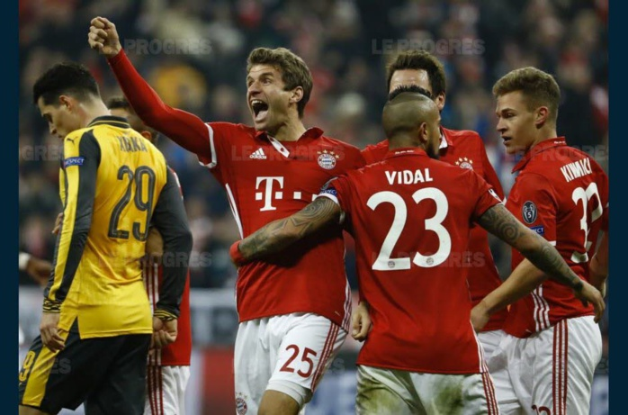 FOOT - LIGUE DES CHAMPIONS (8ES DE FINALE ALLER) : Bayern fait exploser Arsenal