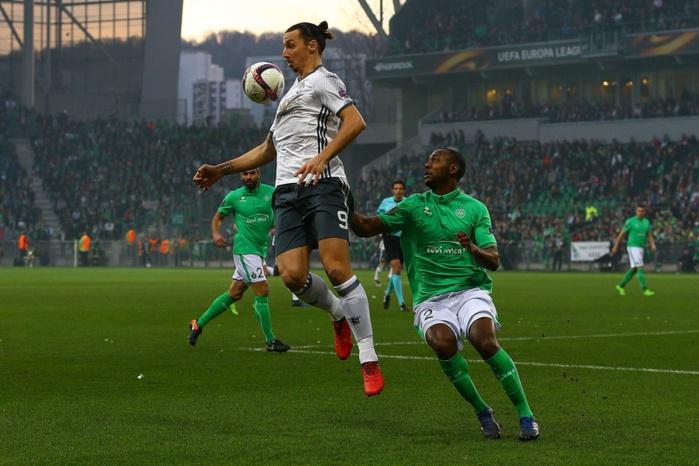 Europa League - Saint-Etienne, battu par Manchester United 1 à 0, éliminé en 16es de finale