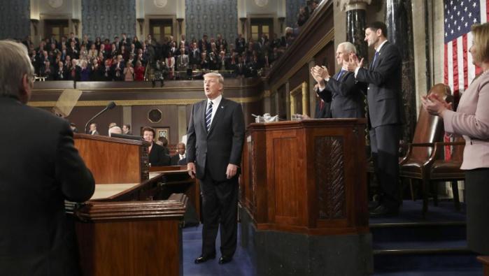 ETATS-UNIS : Donald Trump devant le Congrès fait l'éloge d'une «nouvelle fierté nationale»