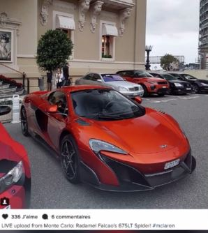 Monaco : Le bolide à 350 000 € de Radamel Falcao !