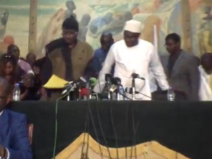 CONFÉRENCE DE PRESSE DE KHALIFA SALL : L'arrivée de Serigne Moustapha Sy