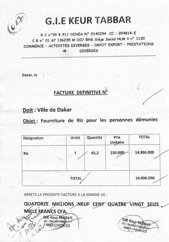 Fausse facture du Gie Keur Tabbar, faux procès-verbal de réception et mandat de payement signés de sa main : Au-delà des aveux de Mbaye Touré & Cie, voici les preuves matérielles qui enfoncent Khalifa Sall