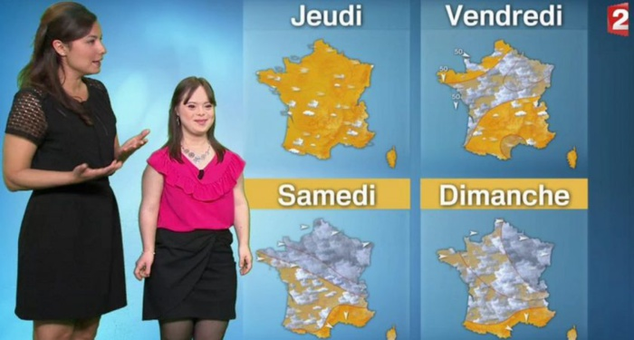 Mélanie, jeune femme trisomique, a présenté la météo (et ça a cartonné)