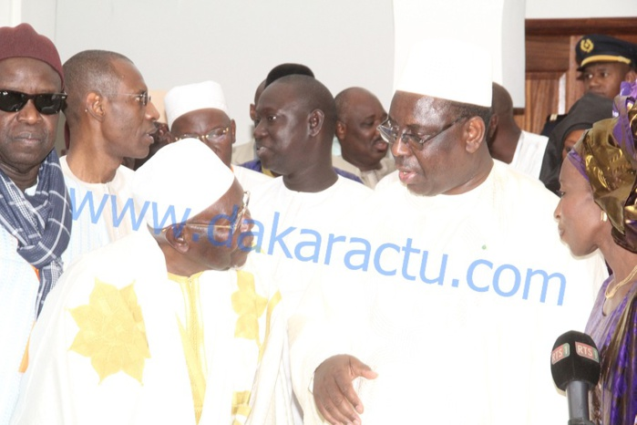 TIVAOUANE : Le président Macky Sall est arrivé à la cérémonie religieuse