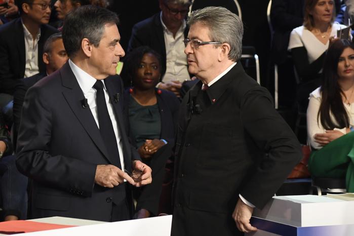 Présidentielle : pour la première fois, un sondage donne Mélenchon à égalité avec Fillon