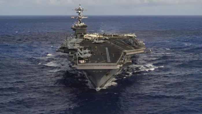 Un porte-avions américain se dirige vers la Corée du Nord